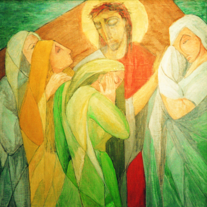 Jesus consoles the women of Jerusalem